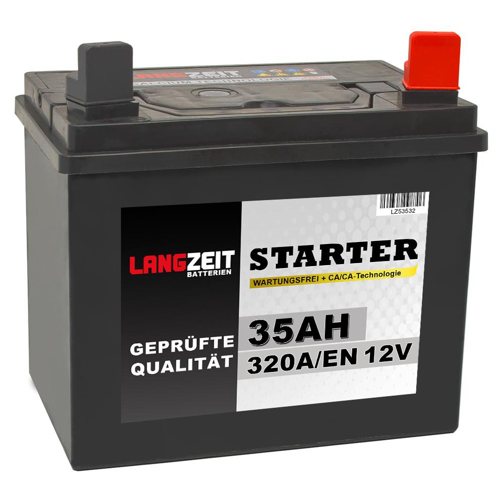langzeit 35ah 12v ppr rasentraktor starterbatterie. Black Bedroom Furniture Sets. Home Design Ideas
