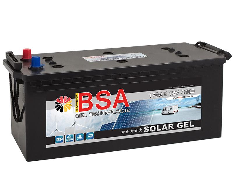bsa 170ah 12v gel batterie solarbatterie. Black Bedroom Furniture Sets. Home Design Ideas