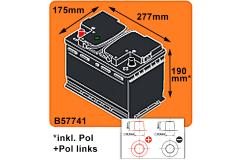 BSA Autobatterie Professional 77Ah +Pol Links
