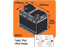 BSA Professional Autobatterie 62Ah +Pol links